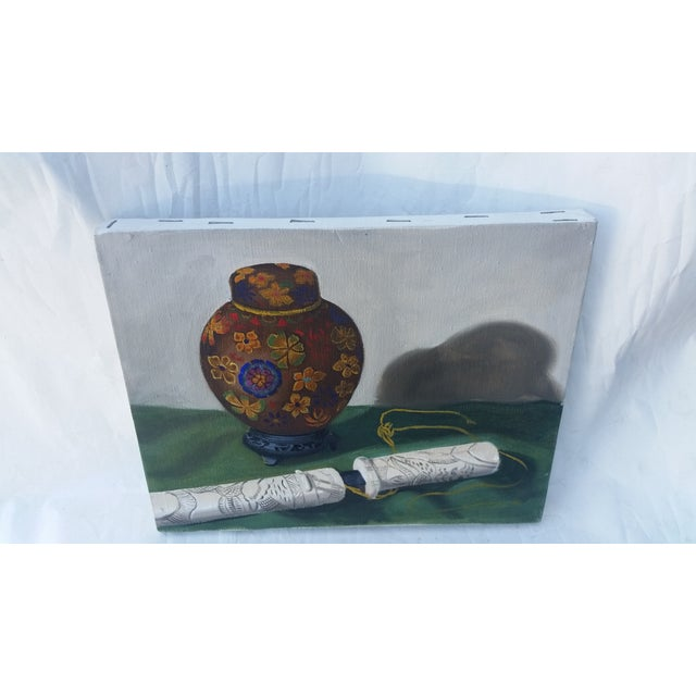 Ginger Jar and Dagger Still Life Painting - Image 3 of 3