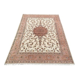 """Hand-knotted Persian Tabriz Area Rug - 9'8"""" x 13'7"""" For Sale"""