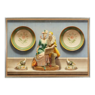 Country French Trompe-l'Oeil Still Life Giclee on Board For Sale