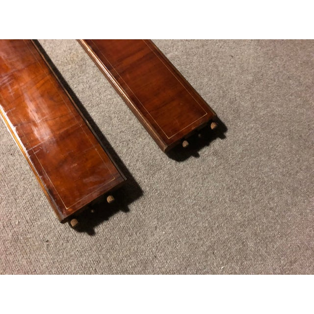 Mid 20th Century 20th Century Edwardian Hand Painted and Caned Wood Twin Bedframe For Sale - Image 5 of 7