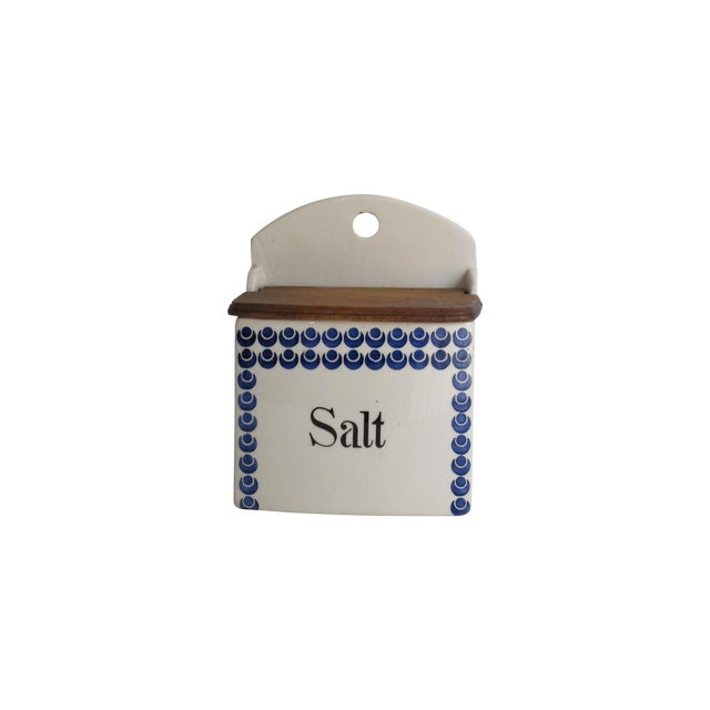 German Blue and White Salt Cellar - Image 1 of 7