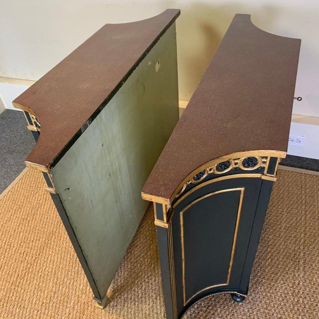 Pair of Regency Style Bookcases For Sale In Richmond - Image 6 of 12