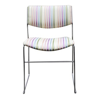 1970s Minimalist Chrome Side Chair, Refinished in Rainbow