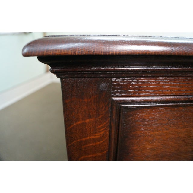 Antique Solid Oak Jacobean Style Sideboard - Image 10 of 10
