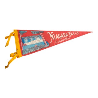 Vintage Niagara Falls Canada Felt Flag Pennant