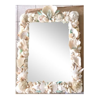 Custom Seashell & Coral Hall or Bathroom Mirror