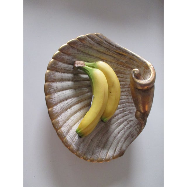 Large Mid-Century Modern Shell Decorative Serving Dish For Sale In Miami - Image 6 of 7
