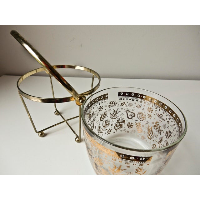 Georges Briard Glass 24K Gold Ice Bucket - Image 5 of 7