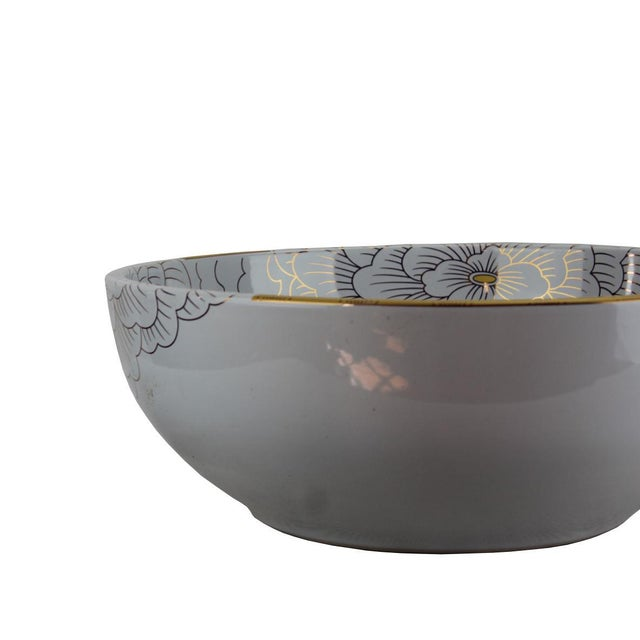 Contemporary Pasargad DC Modern White Motif Sink Bowl For Sale - Image 3 of 7