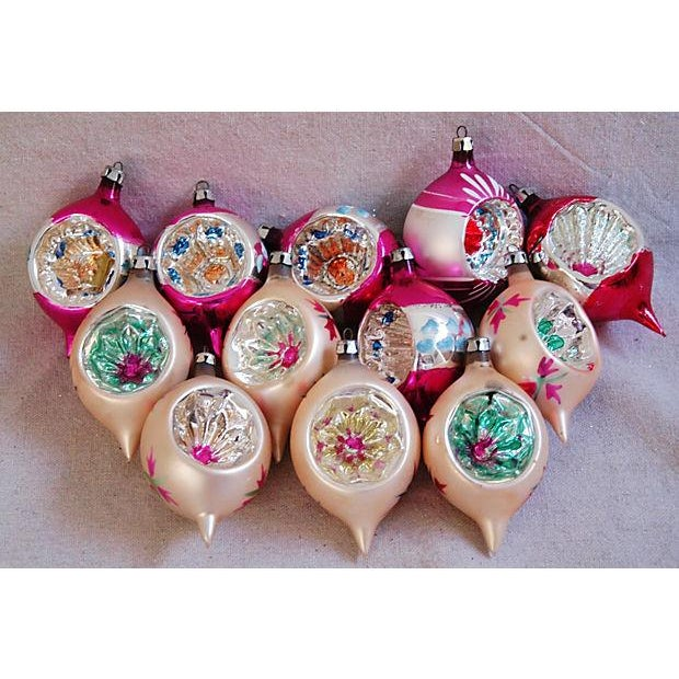 1950s Fancy Christmas Indent Ornaments - Set of 12 - Image 2 of 6