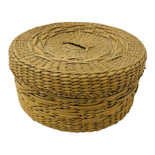 Antique Sweet Grass Box For Sale