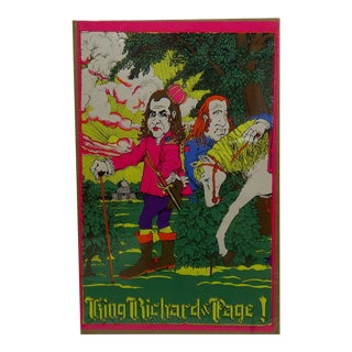 Vintage King Richard Page Poster For Sale