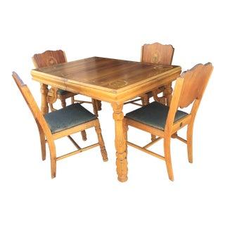 1950's Vintage Meier & Pohlmann Wooden Dining Set- 5 Pieces For Sale