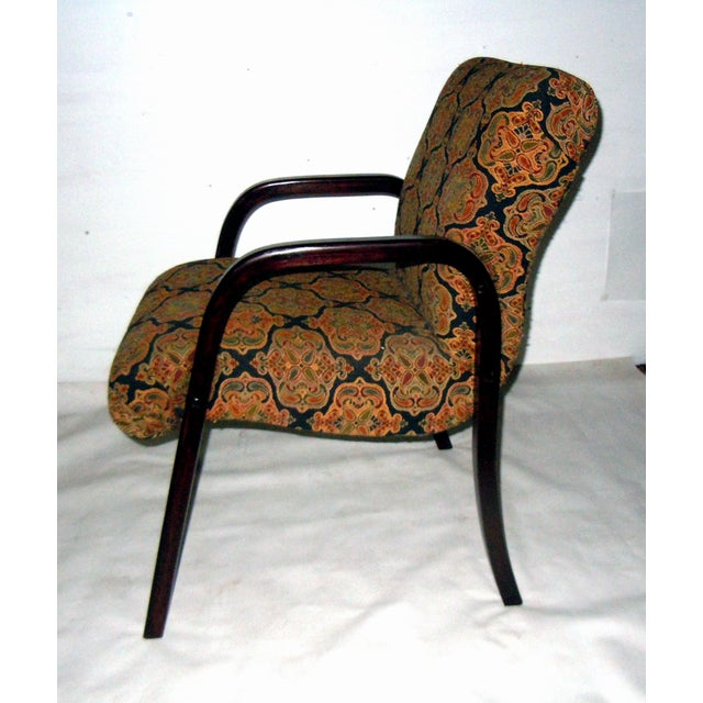 Cherry Wood Mid-Century Armchairs - A Pair - Image 5 of 7