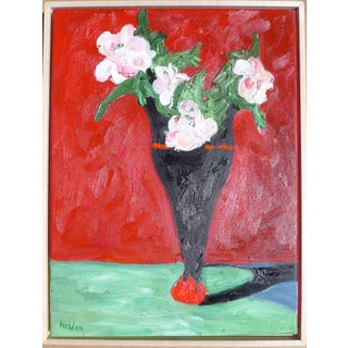 """Martha Holden Contemporary """"French Roses in Red"""" Oil Painting For Sale"""