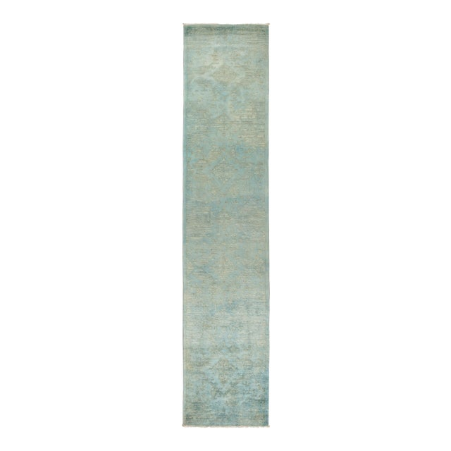 "Vibrance Hand Knotted Runner Rug - 2' 8"" X 12' 4"" - Image 1 of 4"