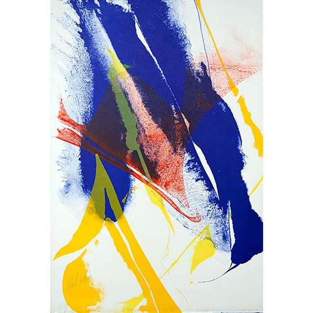 Original Paul Jenkins Stone Lithograph, 1965. Size: 25.5 x 37.5cm. Frame Size: 15 x 19 3/4in. This is a Numbered Limited...