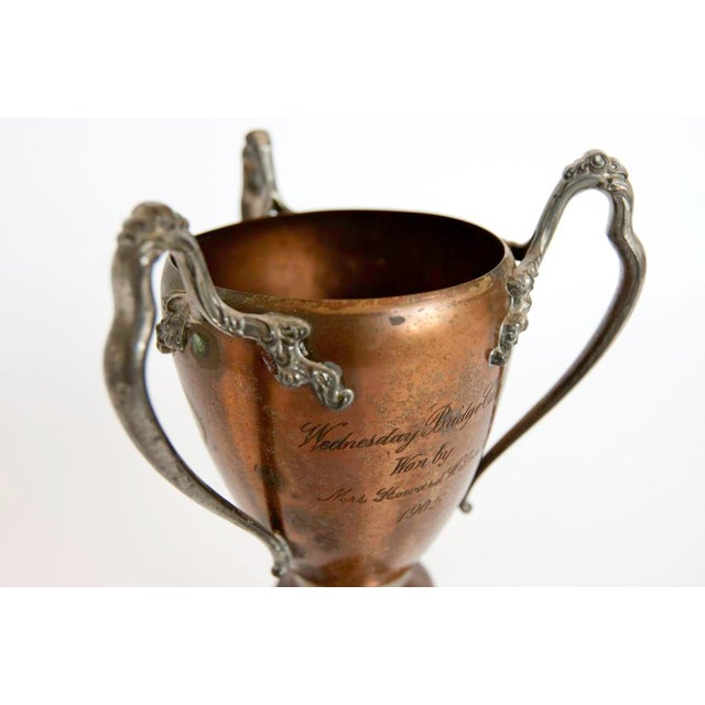 Early American Early 20th C. Vintage Copper Loving Cup For Sale - Image 3 of 3