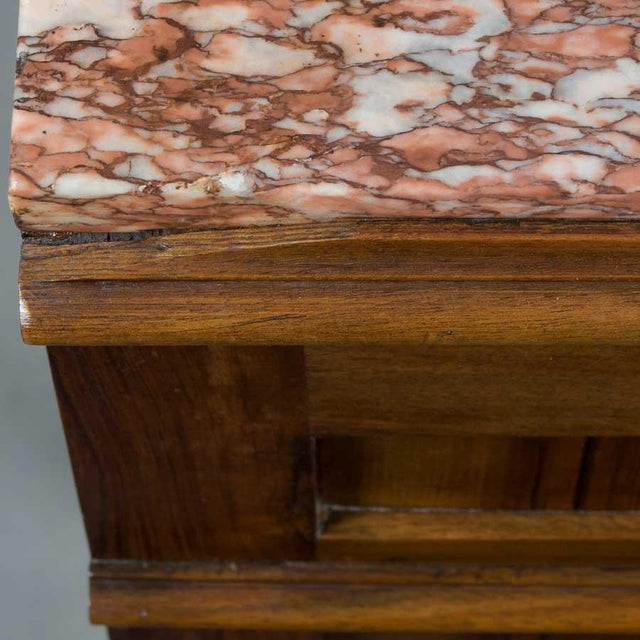1900s French Marble Topped Walnut Pot Cupboard For Sale - Image 10 of 13
