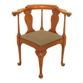 1970s Vintage Henkel Harris Cherry Corner Chair For Sale