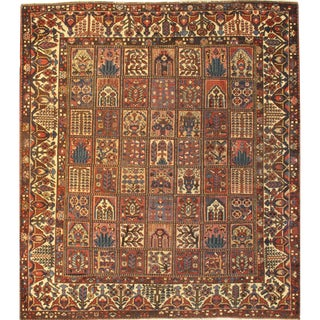 "Pasargad N Y Antique Persian Bakhtiari Garden Rug - 10'5"" X 11'10"" For Sale"