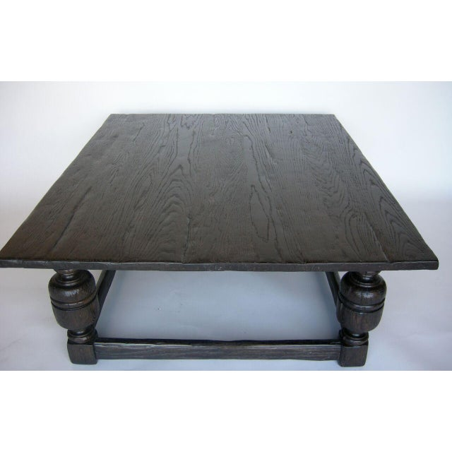 Custom Oak Wood Baroque Style Coffee Table - Image 3 of 6