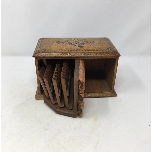 Vintage French Book Style Cigarette Box Desk Organizer For Sale - Image 4 of 12