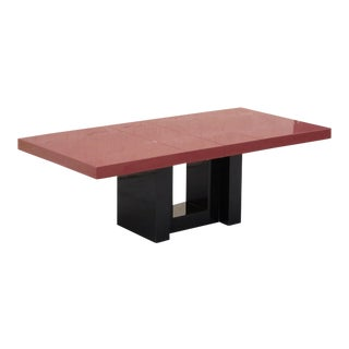 Expandable Lacquered Dining Table by Paul Laszlo For Sale