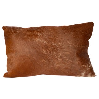 Brown and Lavender Cowhide Pillow For Sale