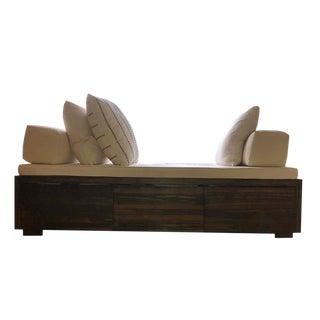 Modern Ebony Wood Daybed Custom Made by Furniture Builders