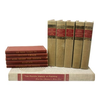 Curated Collection of Vintage Books - Set of 11 - Shakespeare For Sale