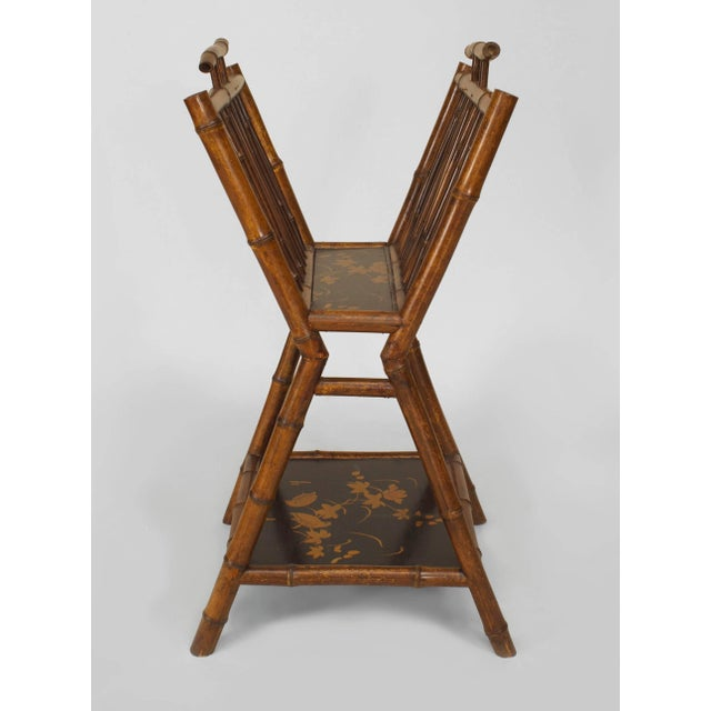19th Century English Parcel Lacquered Bamboo Magazine Rack For Sale - Image 4 of 4