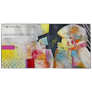 Contemporary Modern Acrylic & Dencite Mixed Media Art Hawthorne Gifted Child For Sale