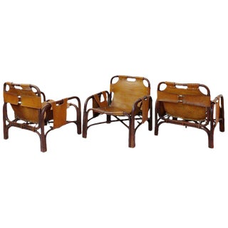 Italian Armchairs Set by Tito Agnoli for Pierantonio Bonacina, 1960s For Sale