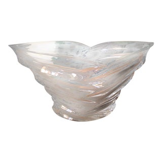 20th Century Art Deco Glass Tulip Serving Bowl
