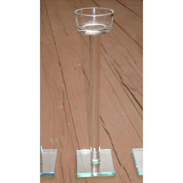 Minimalist Glam Glass Candlesticks - Set of 3 - Image 9 of 9