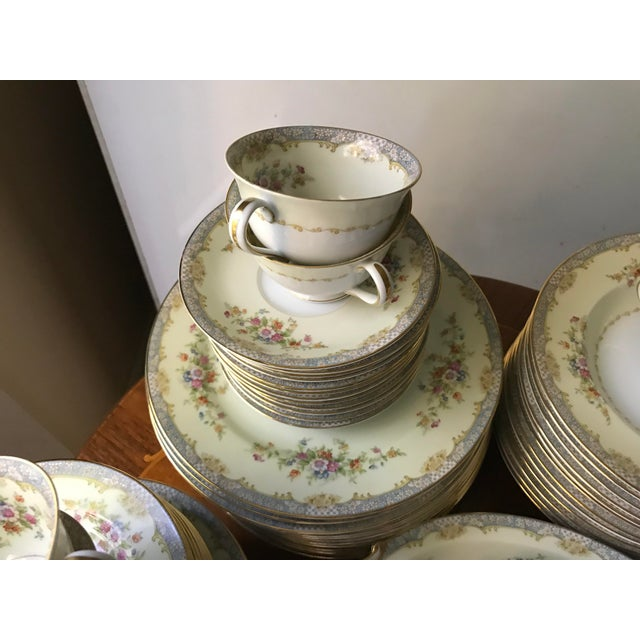 Traditional Vintage Rare 1947(M)Naomi by Noritake China Dinnerware 96 Pieces- Service for 12/ Final Reduction For Sale - Image 3 of 9