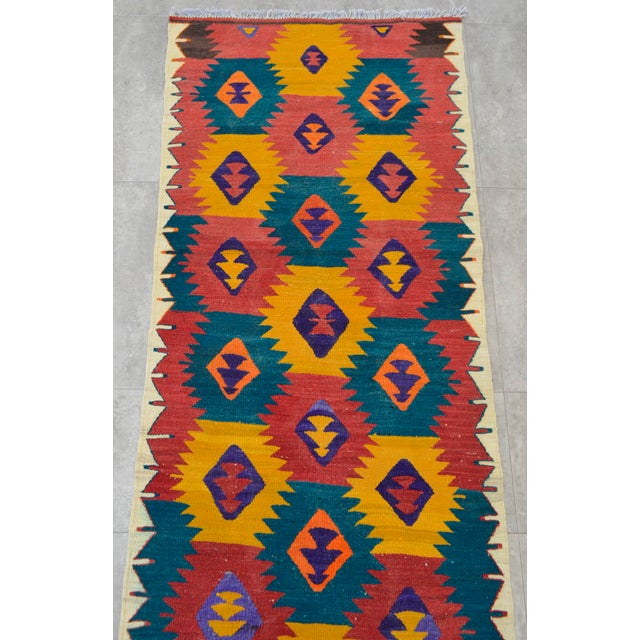 "Turkish Hand Woven Wool Nomad Runner Rug - 2'6"" X 9'1"" - Image 6 of 8"
