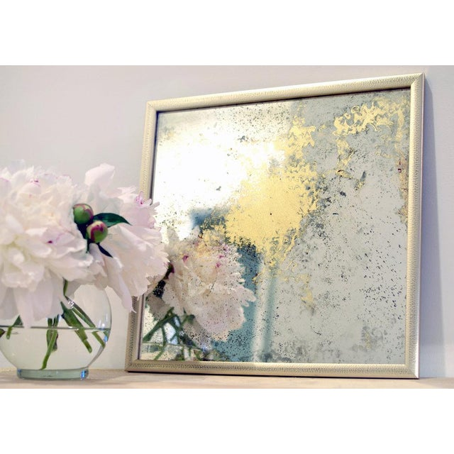 Original abstract mirror painting. Professionally framed. Ready to hang. Signed by artist Framed Dimensions: 12.75x12.75