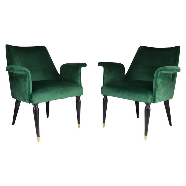20th Century Pair of Italian Armchairs, 1940s For Sale - Image 9 of 9
