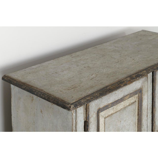 19th Century Italian Abruzzo Two-Door Buffet in Original Paint For Sale - Image 9 of 13