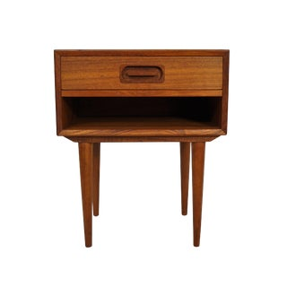 Original Danish Mid Century Teak Side Table With Drawer