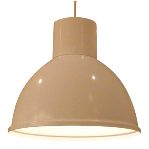 White Poulsen Toldbod Style Mod Danish Pendant For Sale - Image 8 of 8