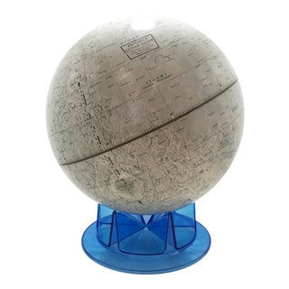 Vintage Blue Lunar Globe For Sale
