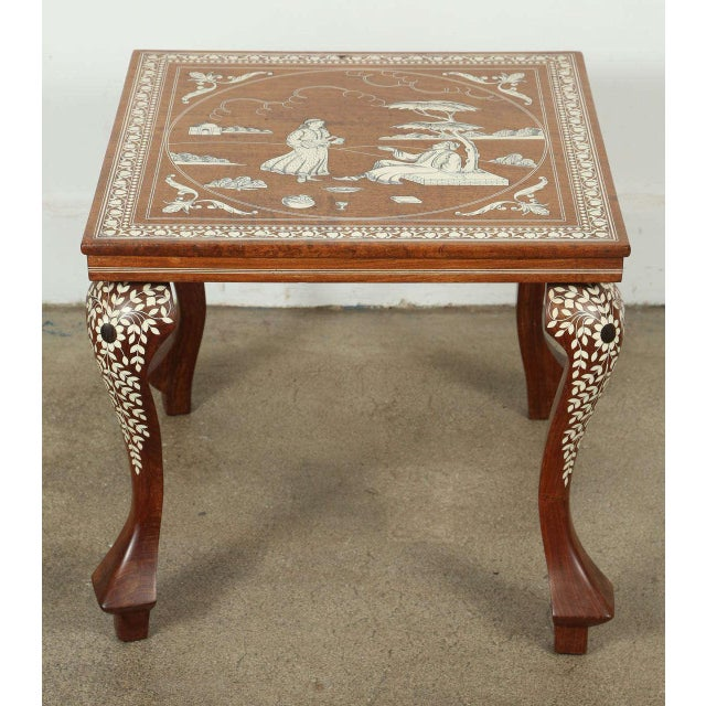 Anglo Indian Inlaid Square Side Table For Sale - Image 10 of 10