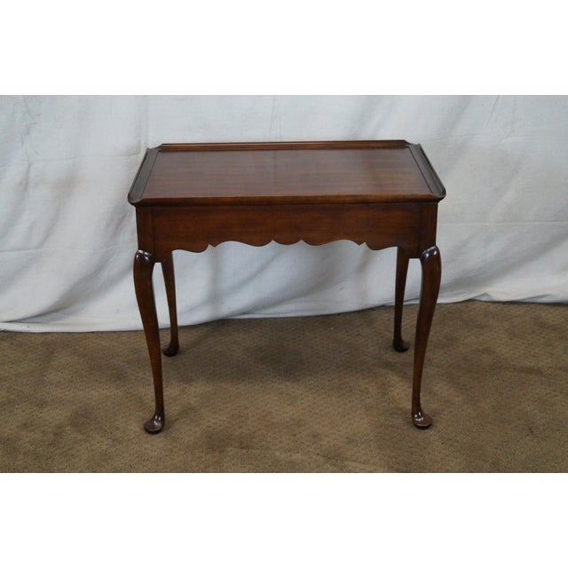 Statton Old Towne Solid Cherry Queen Anne Table - Image 3 of 10