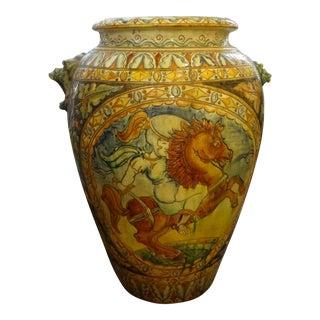 19th Century Italian Glazed Earthenware Urn