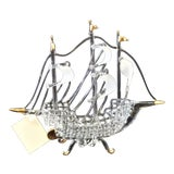 Image of Murano Glass Ship by Raffaele For Sale