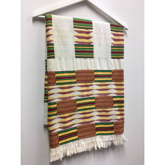 """African Tribal Vintage Textile Throw - 41"""" x 79"""" - Image 5 of 11"""