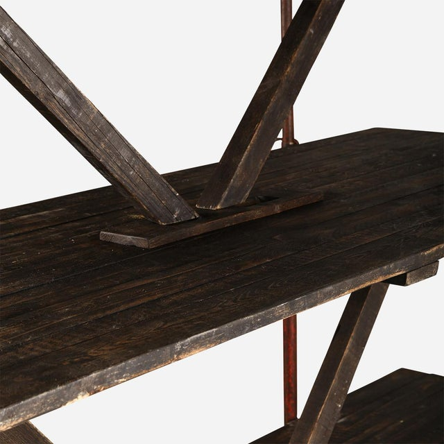 Early 19th Century Industrial Wooden Shelving Rack For Sale - Image 5 of 7